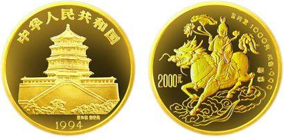 1994年版中美吉祥物麒麟1kg金币有什么收藏价值