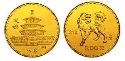 1982年1/10盎司生肖狗年金币有什么收藏价值吗