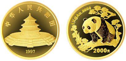 1公斤熊猫精制金币1997年版现在入手还可以升值吗