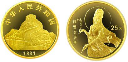 1994版赐福观音1/4盎司精制金币能不能保值增值 市场价值分析