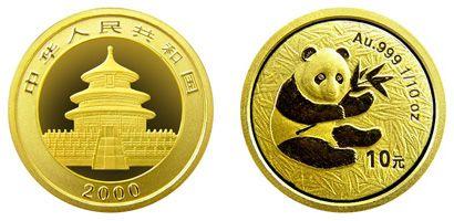 2000年版1/10盎司熊猫金币值得收藏吗  收藏价值分析