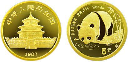 1/20盎司熊猫金币1987年版收藏价值分析
