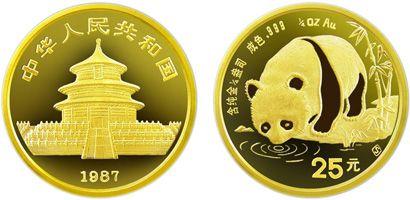 1/4盎司熊猫金币1987年版的收藏价值怎么样   市场行情好吗