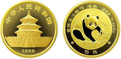 1/20盎司熊猫金币1988年版收藏价值分析   保存金币需要注意的禁忌
