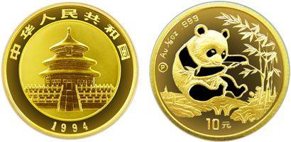 1994年版1/10盎司熊猫精制金币有什么收藏价值   收藏价值分析