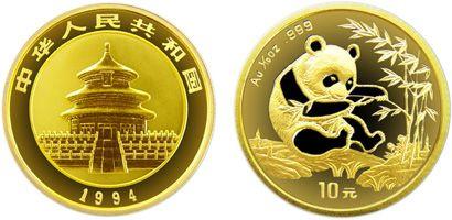 1/10盎司熊猫金币1994年版收藏价值分析