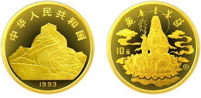 观音1/10盎司金币1993年版有什么收藏价值  收藏价值分析