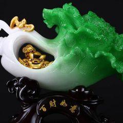 翡翠玉白菜摆件选购要点  翡翠玉白菜寓意和作用