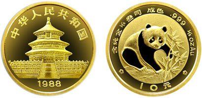 1/10盎司熊猫精制金币1988年版收藏价值高吗  收藏价值分析
