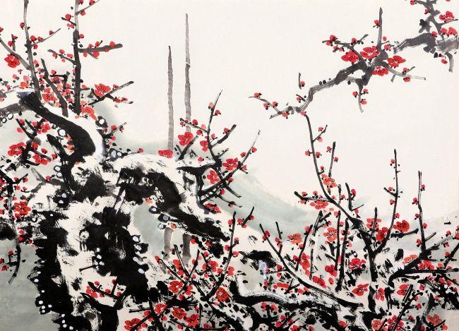 初学国画有什么步骤     国画梅花的绘画技巧
