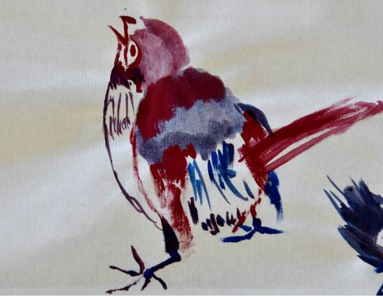 国画花鸟的绘画技巧    国画花鸟的配色技巧
