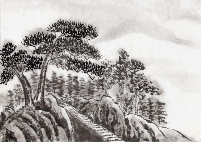 国画山水云怎么画   擅长画山水画的国画大师都有谁