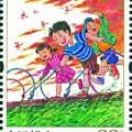 兒童游戲特種郵票圖片及介紹  兒童游戲郵票價值分析