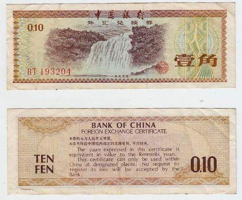 外汇券人民币收藏<a href='http://www.mdybk.com' target='_blank'>钱币收藏价格表</a>2012年6月24日