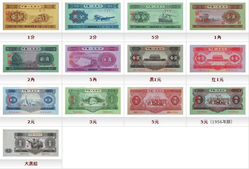 1953年纸币价格表    收藏1953年纸币建议