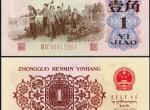 一角纸币收藏价格表图  一角纸币收藏价值