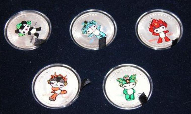 奥运福娃纯银五枚价格 2008奥运银质5福娃价格