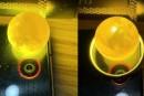 真蜜蜡用手机灯照片 真蜜蜡手机灯下是什么样的