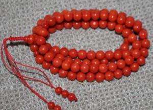 天然红珊瑚鉴定  珊瑚珠手链价格