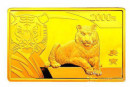 2010年5盎司生肖虎长方形金币价格