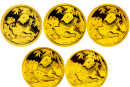 2007版熊貓金銀紀念幣價格
