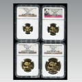 1982年熊猫金币4枚套装1982年金套猫价格