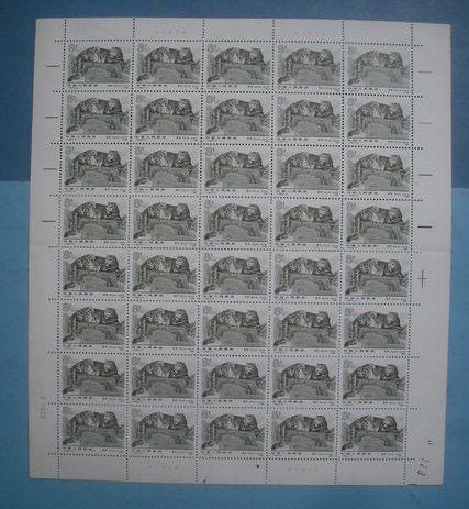 T153雪豹邮票 T153雪豹整版票价格