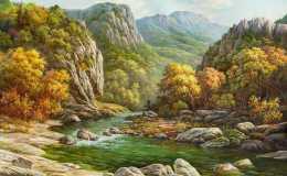 朝鲜油画风景图欣赏,朝鲜油画风景图片大全