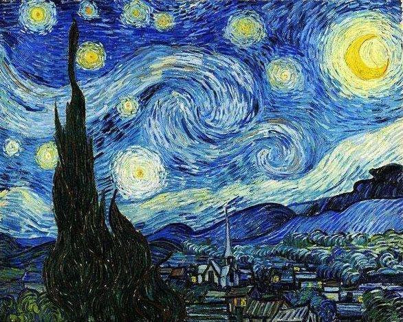 梵高十大名画作品图片欣赏