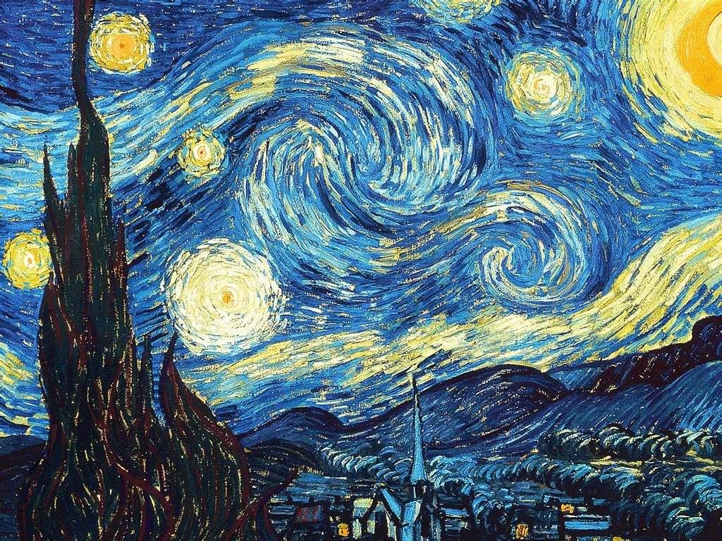 梵高油画星空高清图片,梵高油画星空作品鉴赏