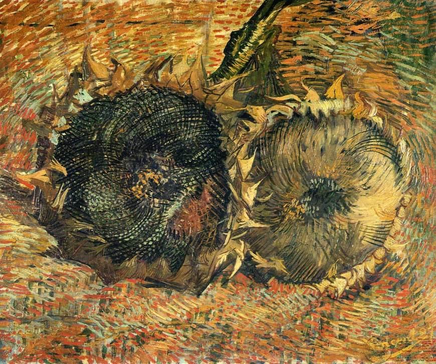 梵高油画向日葵高清图片,梵高油画向日葵作品欣赏
