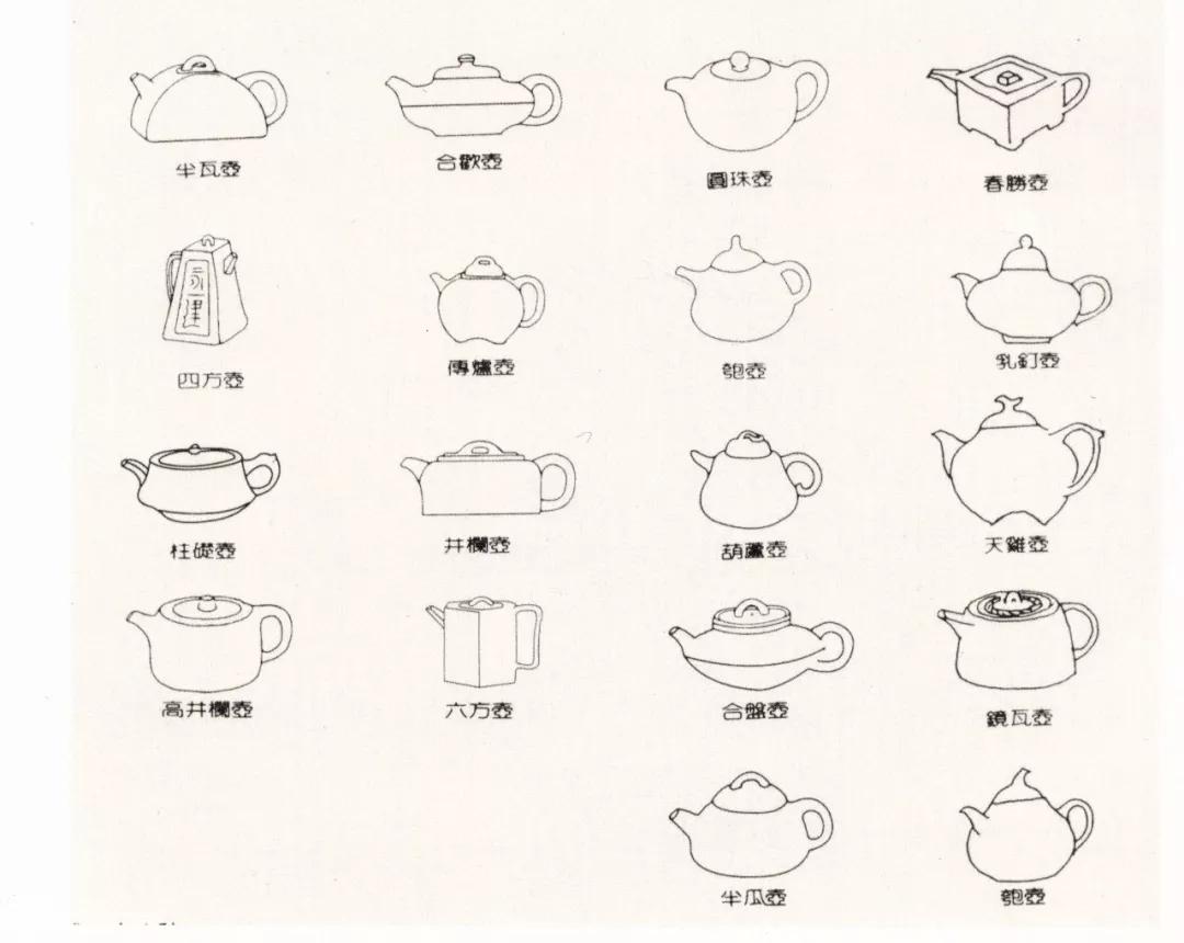 紫砂壶曼生十八式名称图片