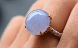 紫罗兰翡翠戒指价格多少及图片大全