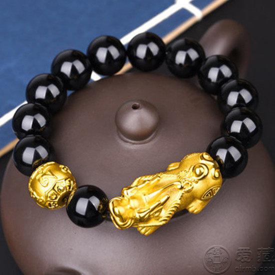 金貔貅手链图片介绍  金貔貅手链的作用