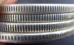 真品银元边齿微观图片  银元边齿长什么样