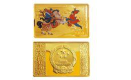 《水浒传》彩色金银纪念币(第2组)5盎司长方形彩色金质纪念币 价值分析