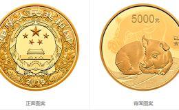 2019中国己亥(猪)年金银纪念币500克圆形金质纪念币