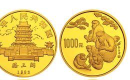 中國壬申(猴)年金銀鉑紀念幣12盎司圓形金質紀念幣