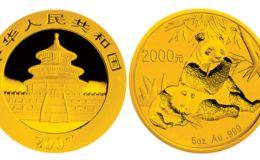 2007版熊貓金銀紀念幣5盎司圓形金質紀念幣