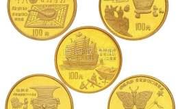 1995年古代发明发现4组金币5枚价格