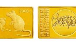 2008年5盎司生肖鼠长方形金币价格