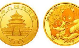2005年1盎司熊猫金币价格