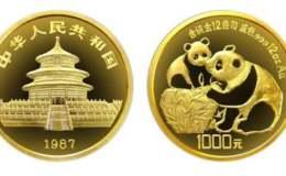 1987年12盎司熊貓金幣價格表