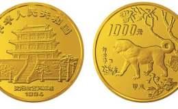 1994年12盎司生肖狗金幣價格表