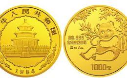 1984版熊貓紀念幣12盎司圓形金質紀念幣