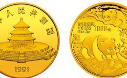1991年12盎司熊貓金幣的價格