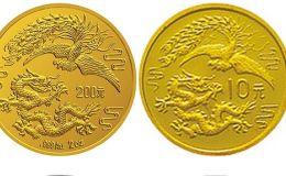 1990版龙凤金银纪念币2盎司圆形金质纪念币 介绍