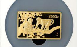 2004年5盎司生肖猴長方形金幣的價格