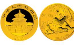 2007年熊猫金银纪念币5盎司圆形金质纪念币