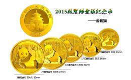2015年熊貓金幣套裝(初打金幣)